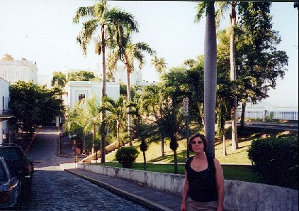 Blue tile street in Old San Juan
