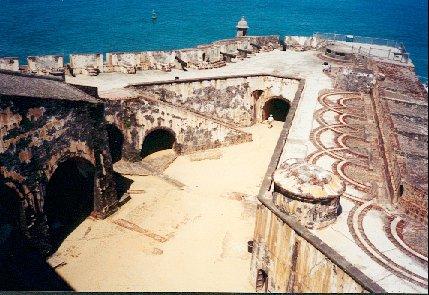 Gun emplacements at El Morro.