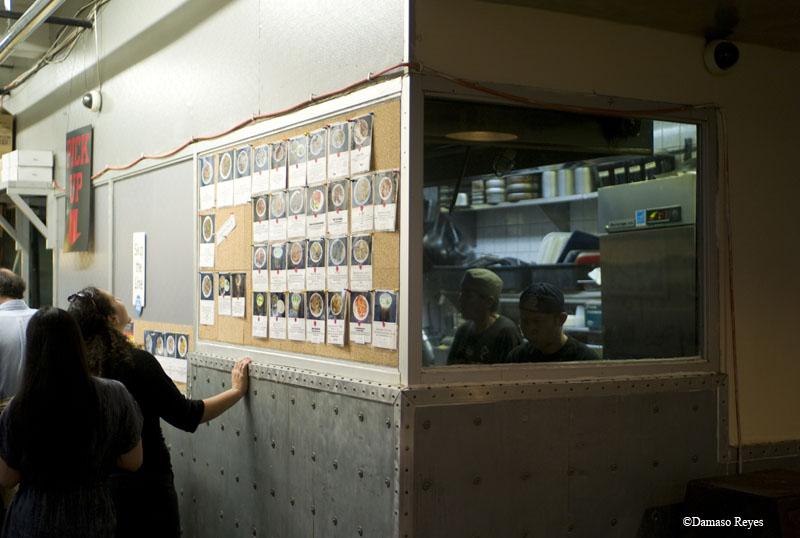 Chelsea Thai menu wall