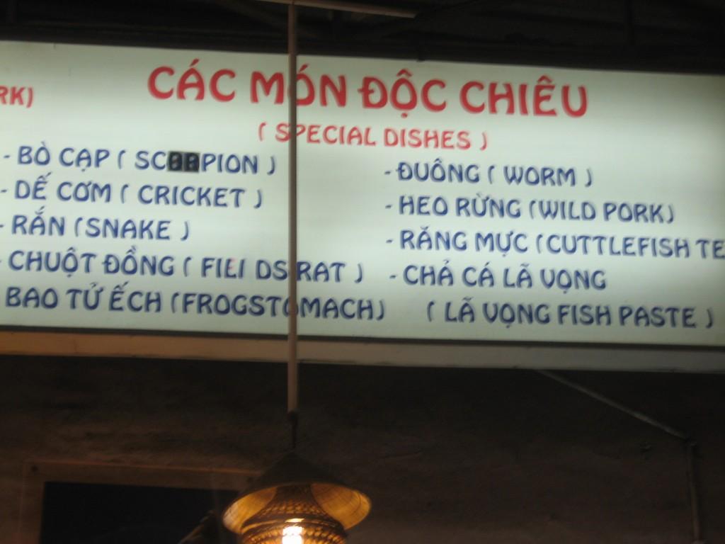 Menu HCMC