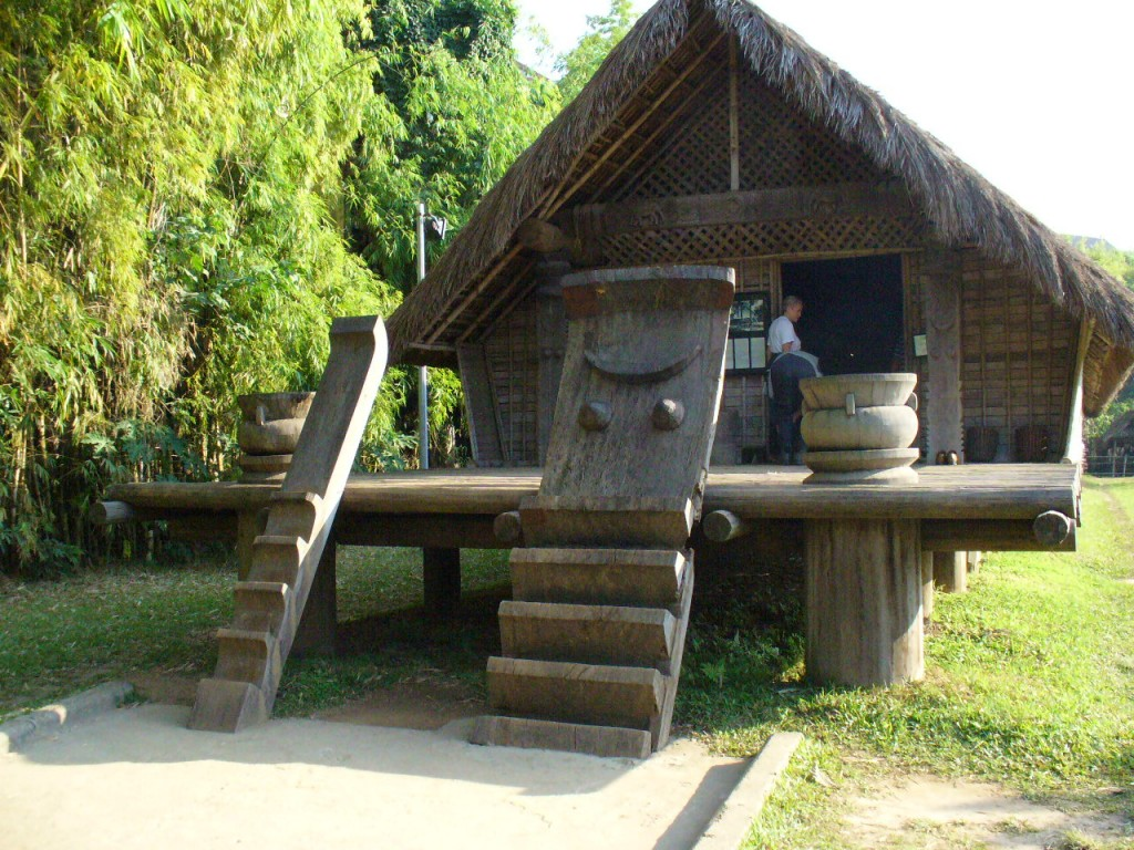 Tribal building exhibition at Museum of Ethnography