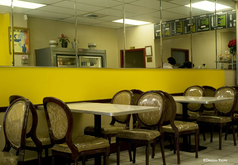 Interior, Jamaican restaurant, Queens