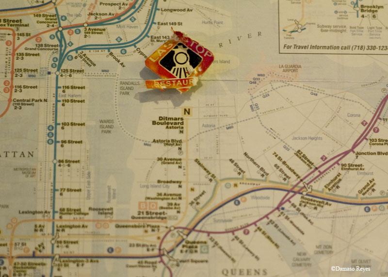 Cafe Sticker on Map