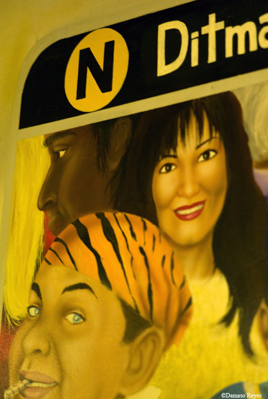N train mural