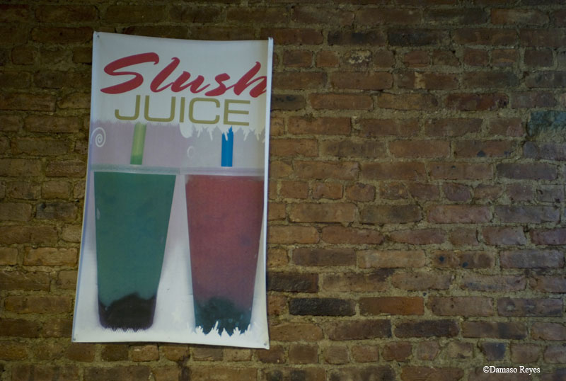 Slush sign at Grini's