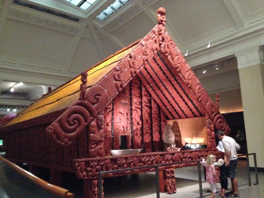 Maori storage house, Auckland Museum