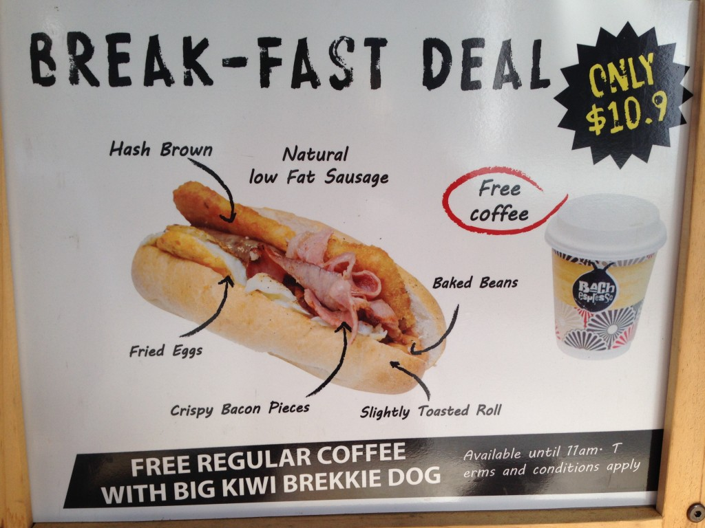 Break-fast Deal, Auckland