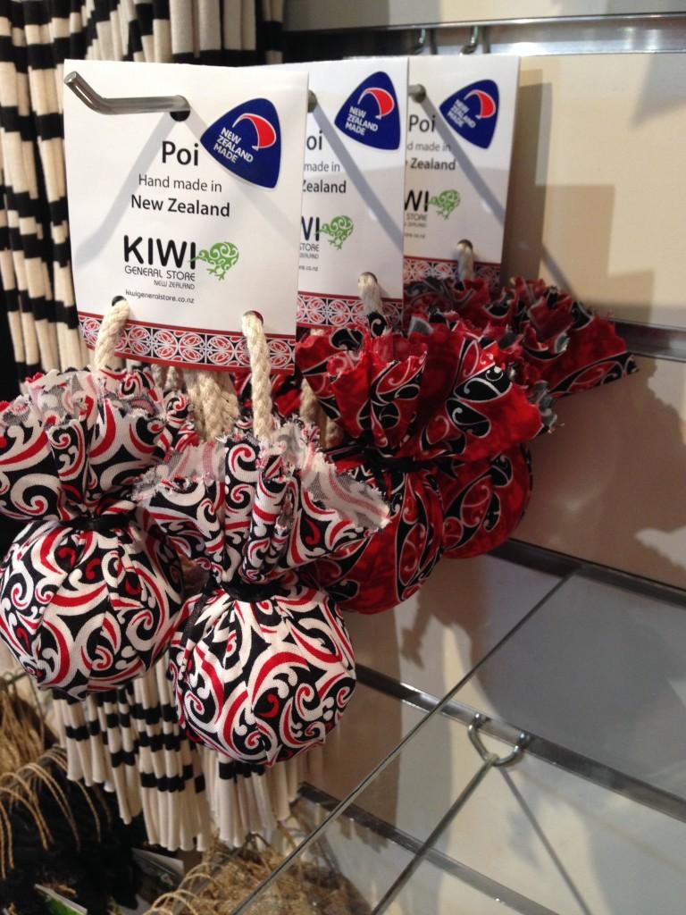 Poi in gift shop, Rotorua, NZ