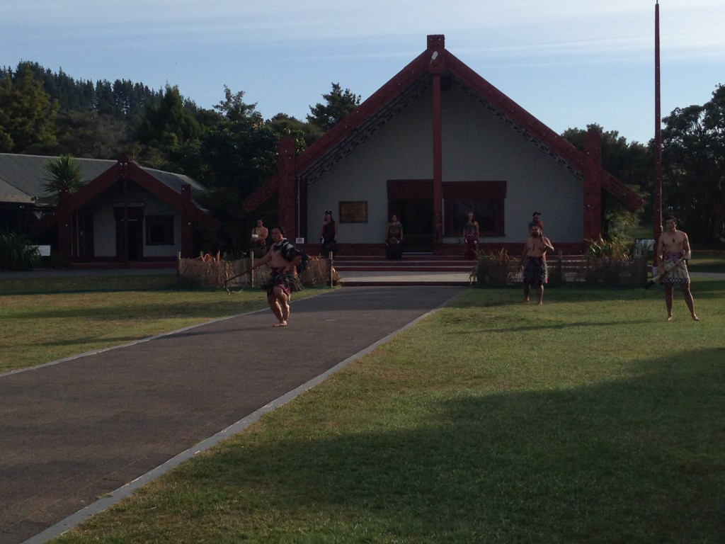 Maori warriors, Rotorua, NZ