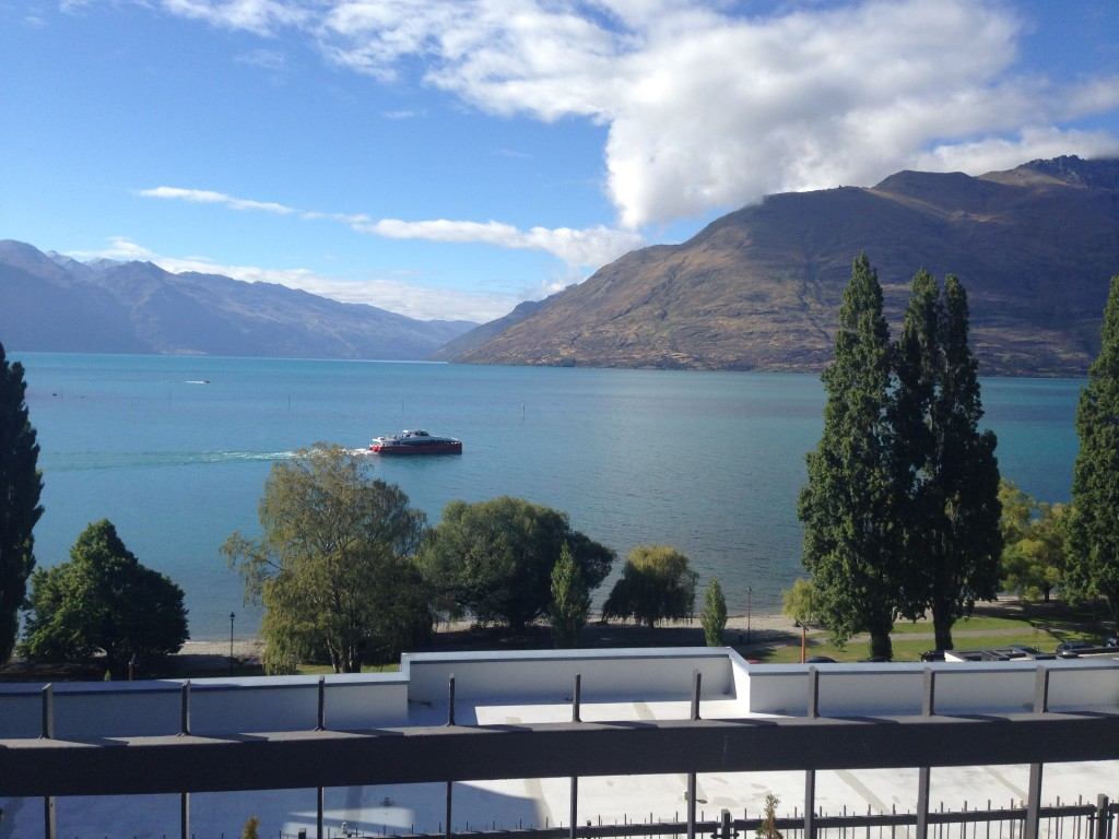 View of Queenstown from my hotel window