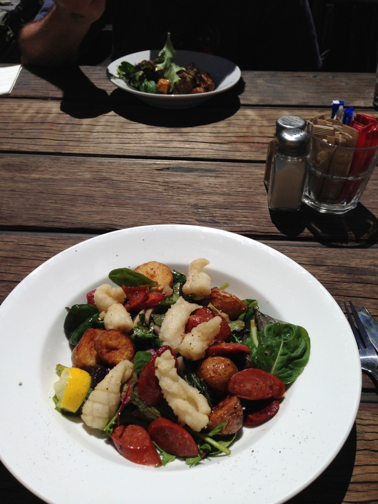 Calamari & chorizo salad, Arrowtown, NZ