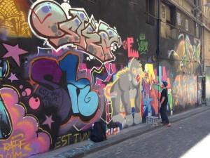 Street artist, Melbourne, Australia