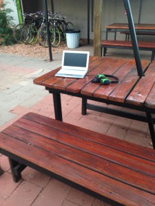 Backpacker guest's abandoned laptop