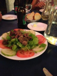 Chicken gizzard salad