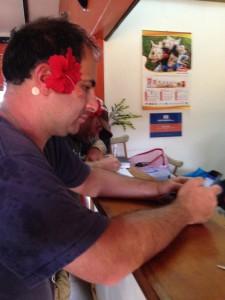 Paul at desk