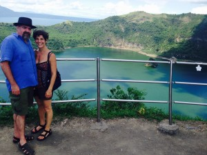 Us at Taal Volcano